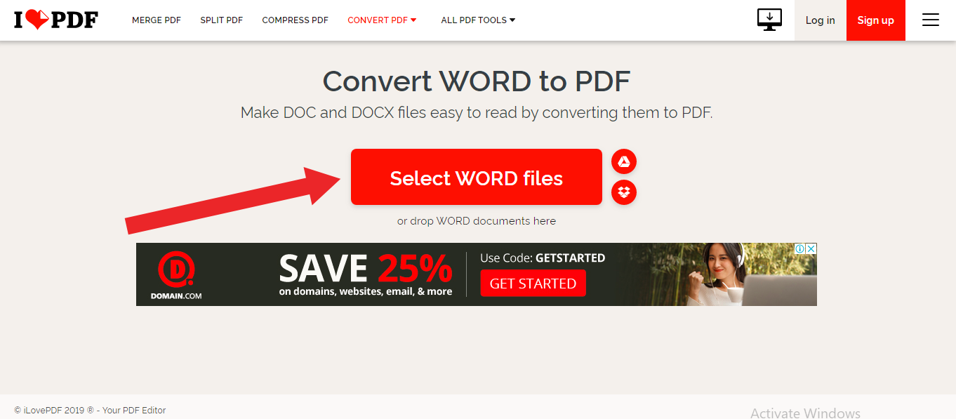 word document to pdf file